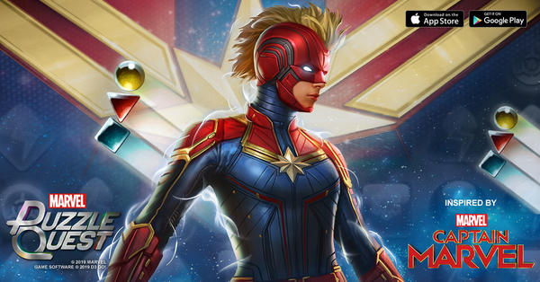 Marvel Puzzle Quest - Captain Marvel