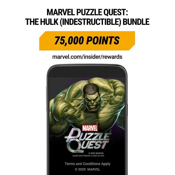 Marvel Insider Rewards Marvel Puzzle Quest: The Hulk (Indestructible) Bundle