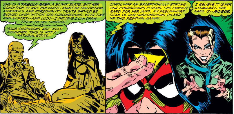 Rogue takes Carol Danvers' powers