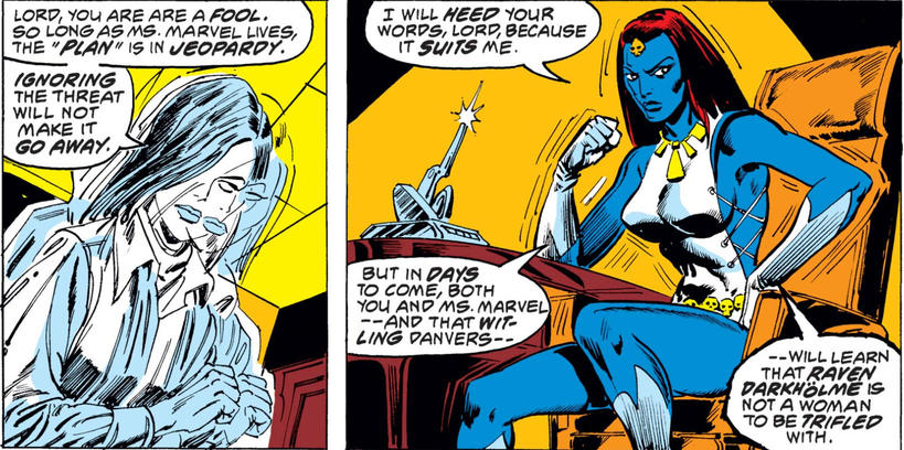 Mystique plots against Carol Danvers