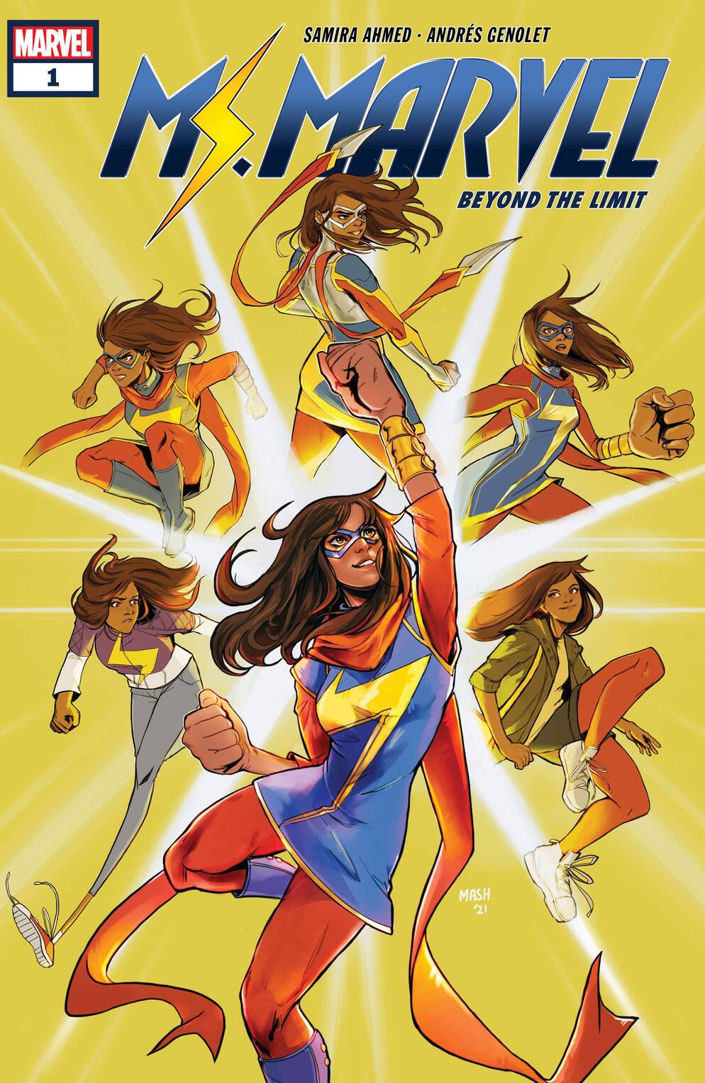 MS. MARVEL: BEYOND THE LIMIT cover by Mashal Ahmed