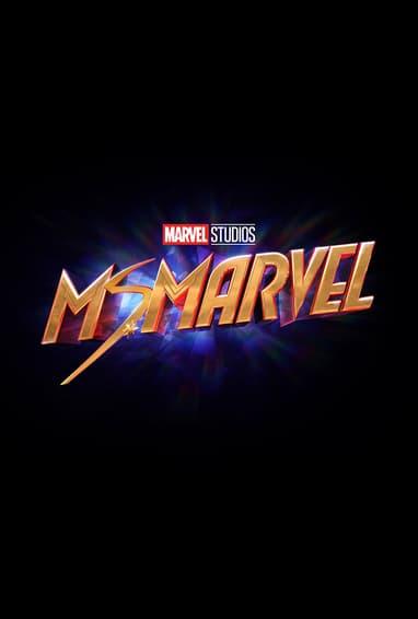 Marvel Studios Ms. Marvel Disney Plus TV Show Season 1 Logo on Black