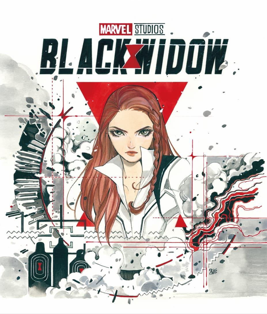 'Black Widow' Blu-ray Cover Art by Peach Momoko