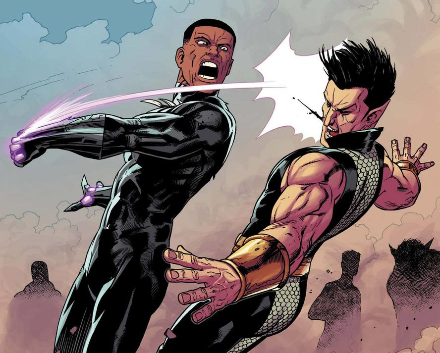 Black Panther punches Namor