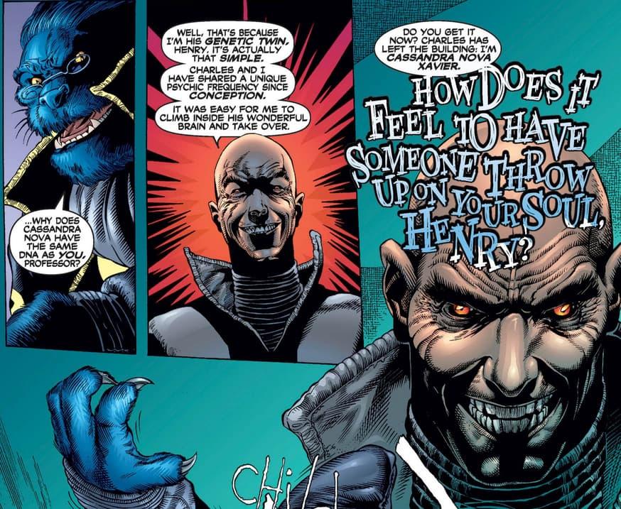 Cassandra Nova takes over Professor X