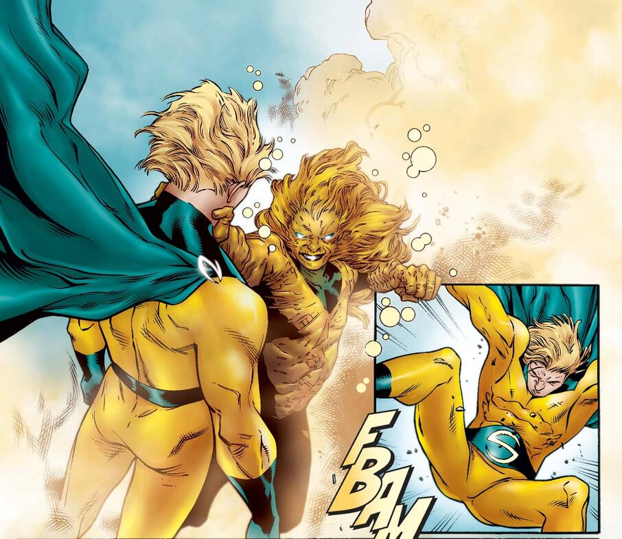 Yelena takes on the Sentry with her Super-Adaptoid powers in NEW AVENGERS ANNUAL (2006) #1.
