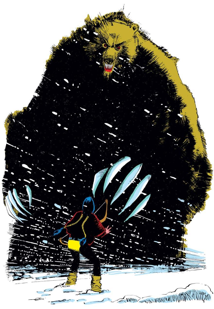 Moonstar versus the Demon Bear in NEW MUTANTS (1983) #18.