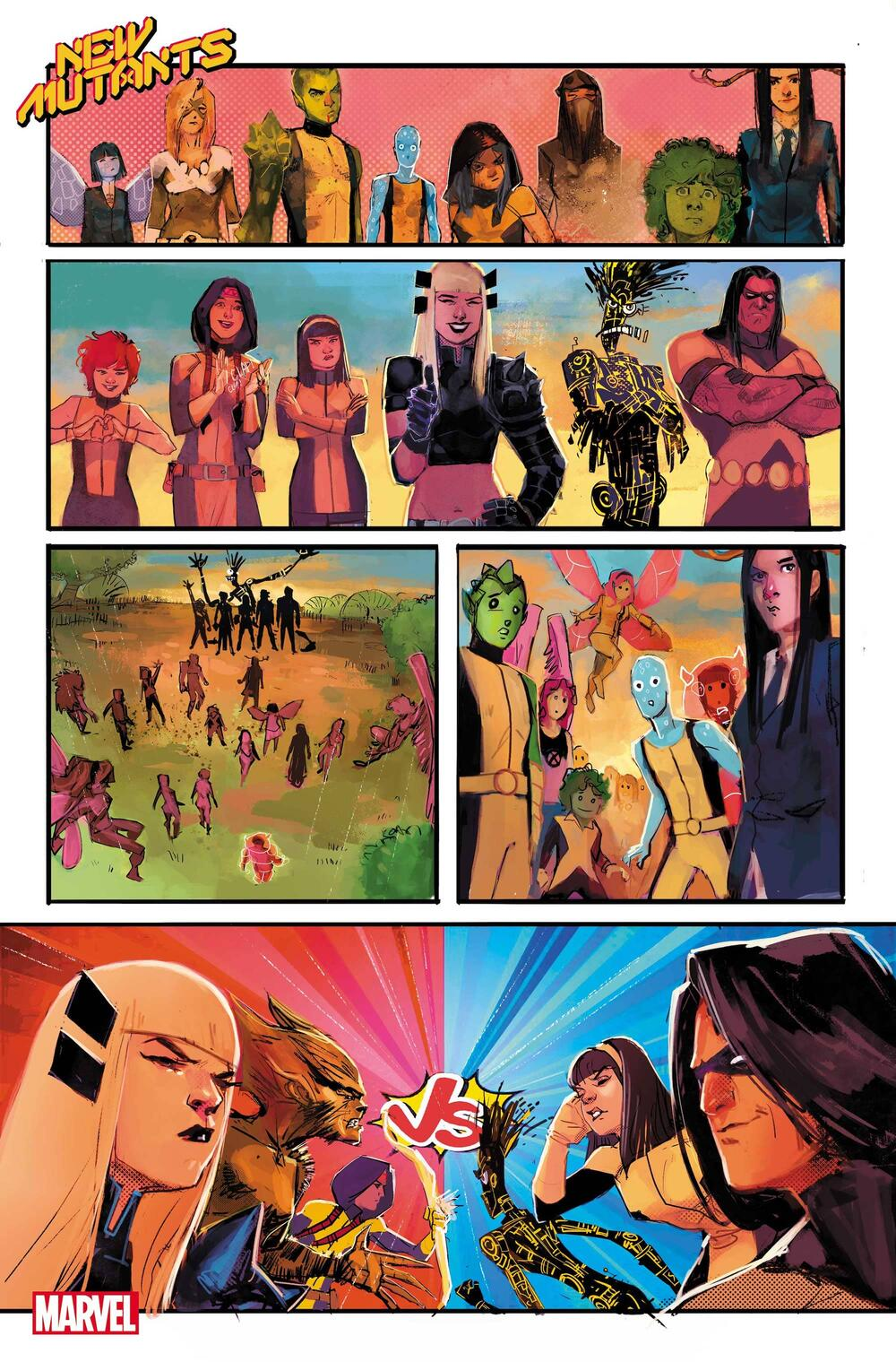 NEW MUTANTS #14 preview art by Rod Reis