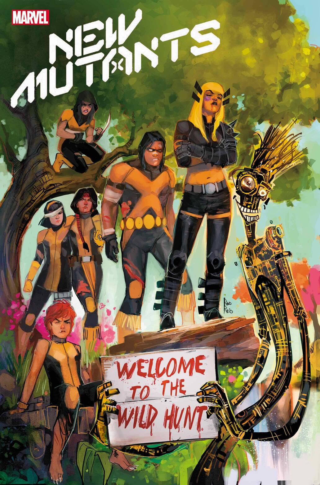 NEW MUTANTS #14 cover by Rod Reis
