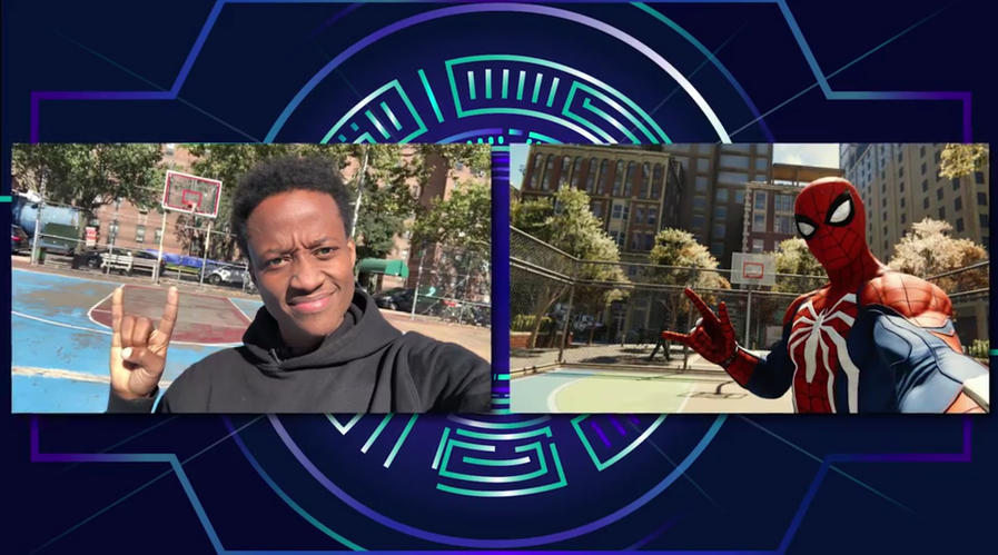 Nore Davis Marvel Spider-Man PS4 selfies