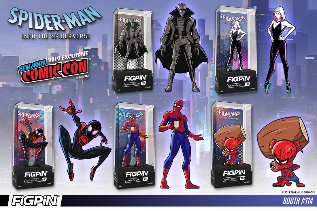 Spider-Man: Into the Spider-Verse FiGPiN silver-plated set of 5