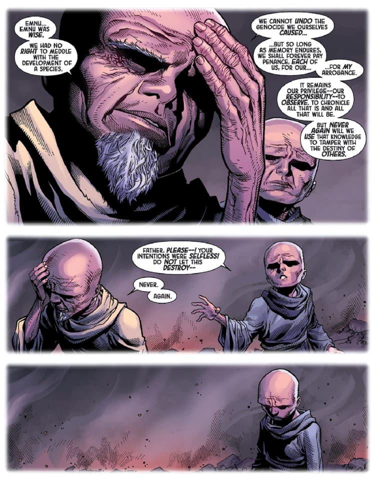The origin of Uatu's people in ORIGINAL SIN (2014) #0.