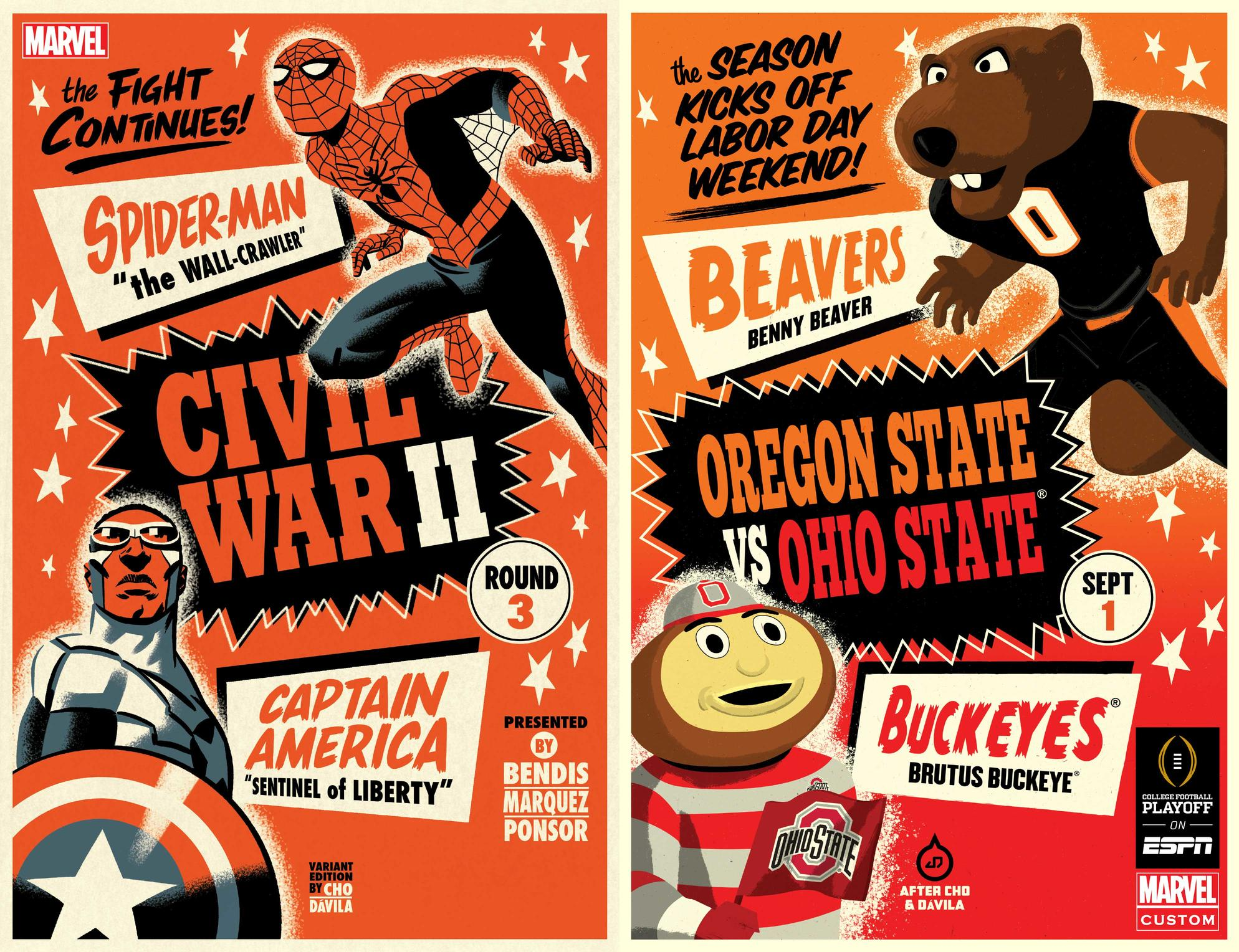 Oregon State vs Ohio State mascot covers