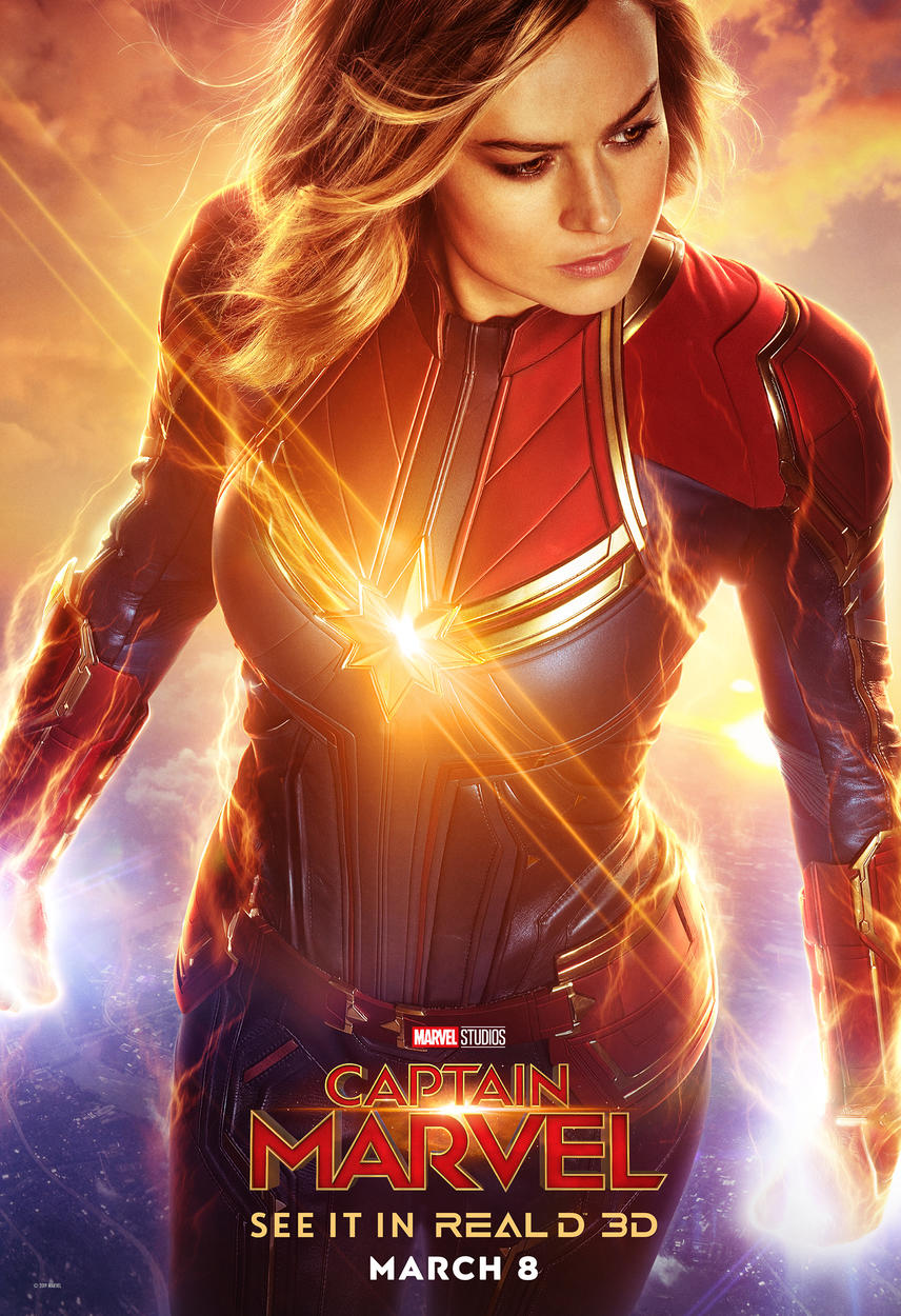 RealD 3D Exclusive Captain Marvel Poster