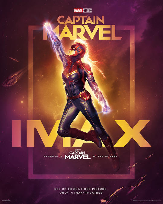 IMAX Exclusive Captain Marvel Poster