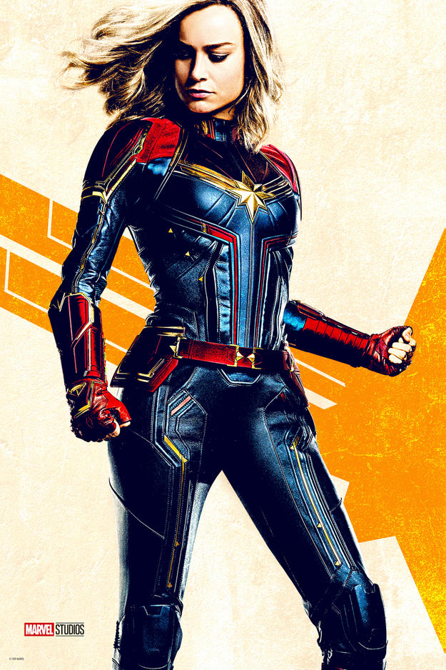 Captain Marvel Wild Postings art