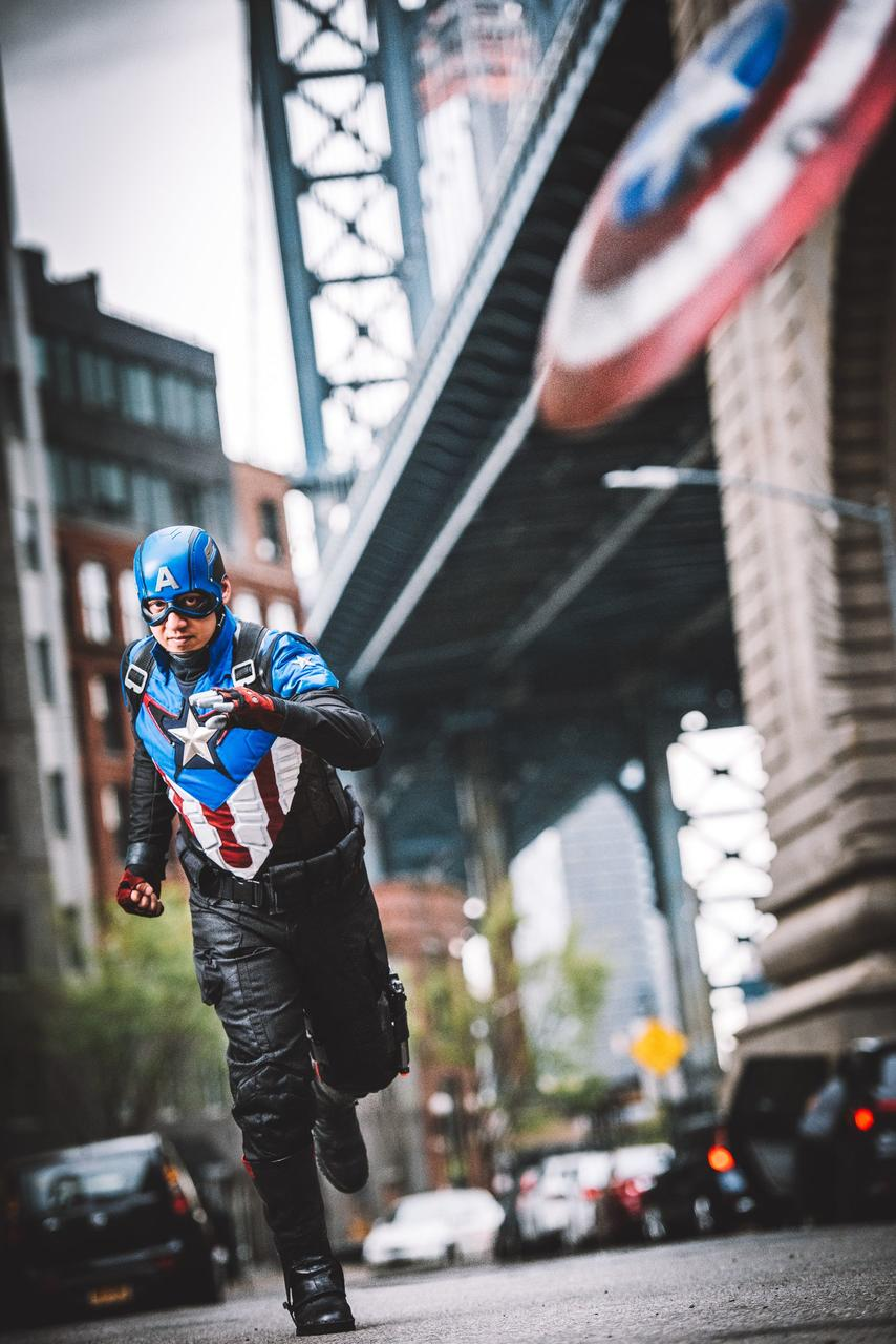 Patrick Skye as Captain America