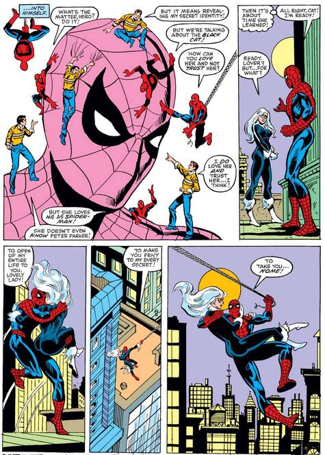 Peter considers revealing his identity to Black Cat