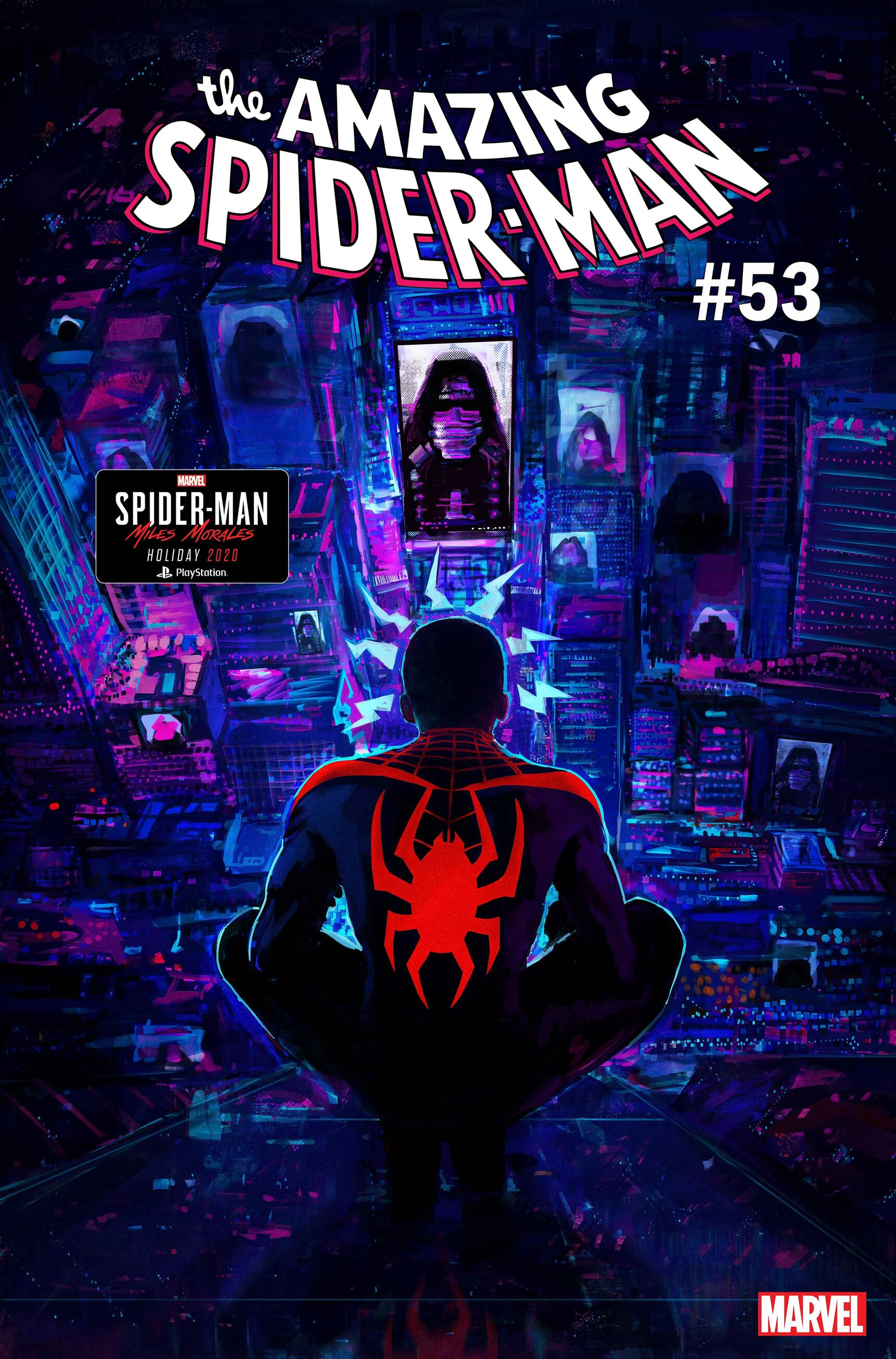 AMAZING SPIDER-MAN #53.LR cover by Insomniac Games art director Jason Hickey