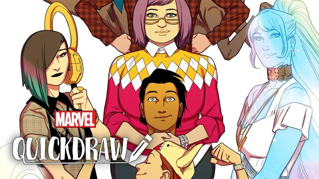 Kris Anka Draws The Runaways | Marvel Quickdraw