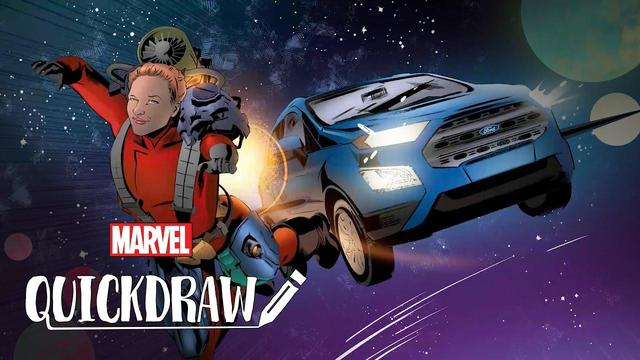 Dennis Calero Draws Unstoppables ft. EcoSport | Marvel Quickdraw