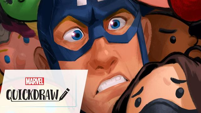 Helen Chen Draws Steve Rogers (Tsum Tsum) | Marvel Quickdraw