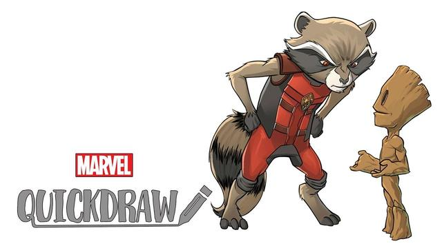 Mario DelPennino & Carlos Lopez Draw Rocket & Baby Groot | Marvel Quickdraw