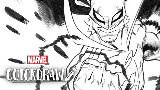 Scott Hepburn Draws Iron Fist | Marvel Quickdraw