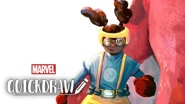 Irma Kniivila Draws Moon Girl | Marvel Quickdraw