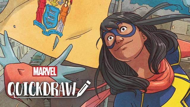 Ian Herring Colors Ms. Marvel | Marvel Quickdraw