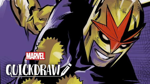 Marcus To Draws Nova | Marvel Quickdraw
