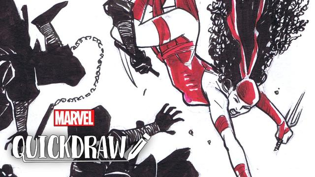 Cory Smith Draws Elektra | Marvel Quickdraw