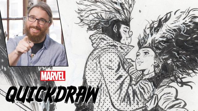 Daniel Warren Johnson Draws Rogue & Gambit | Marvel Quickdraw