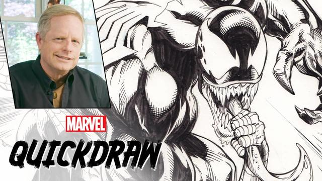 Mark Bagley Draws Spider-Man & Venom | Marvel Quickdraw