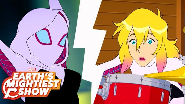 First Look: Marvel Rising's Ghost-Spider | Earth's Mightiest Show Bonus