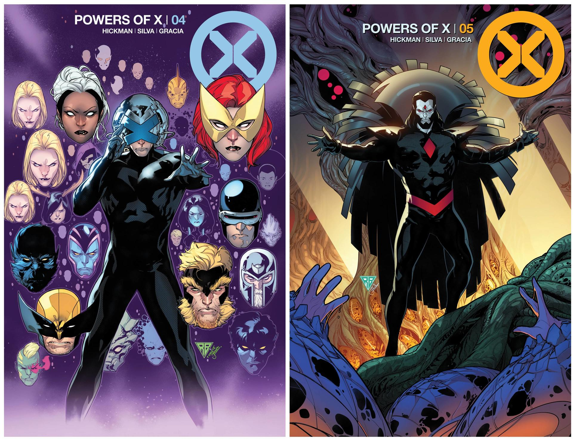 POWERS OF X #4 AND #5