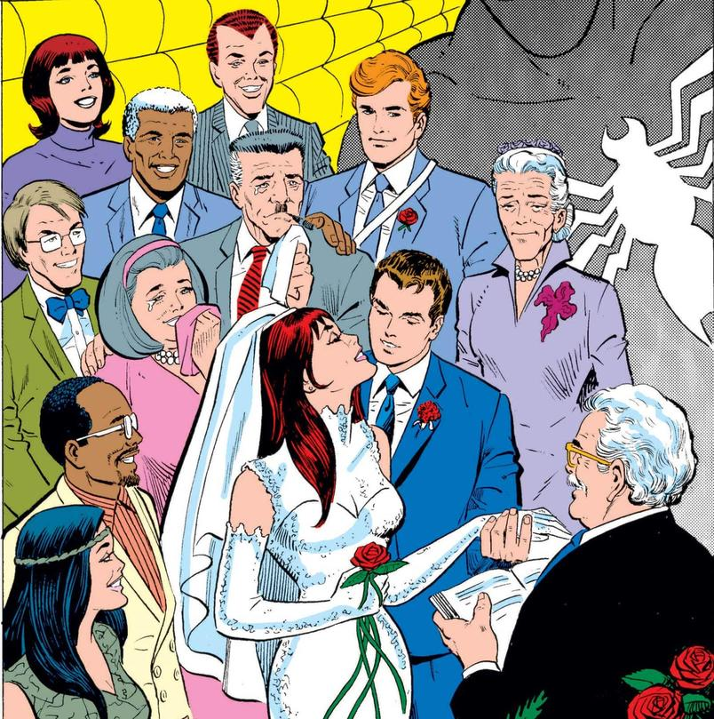 Peter Parker marries Mary Jane