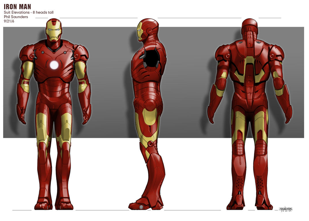 Iron Man Concept Art by Phil Saunders