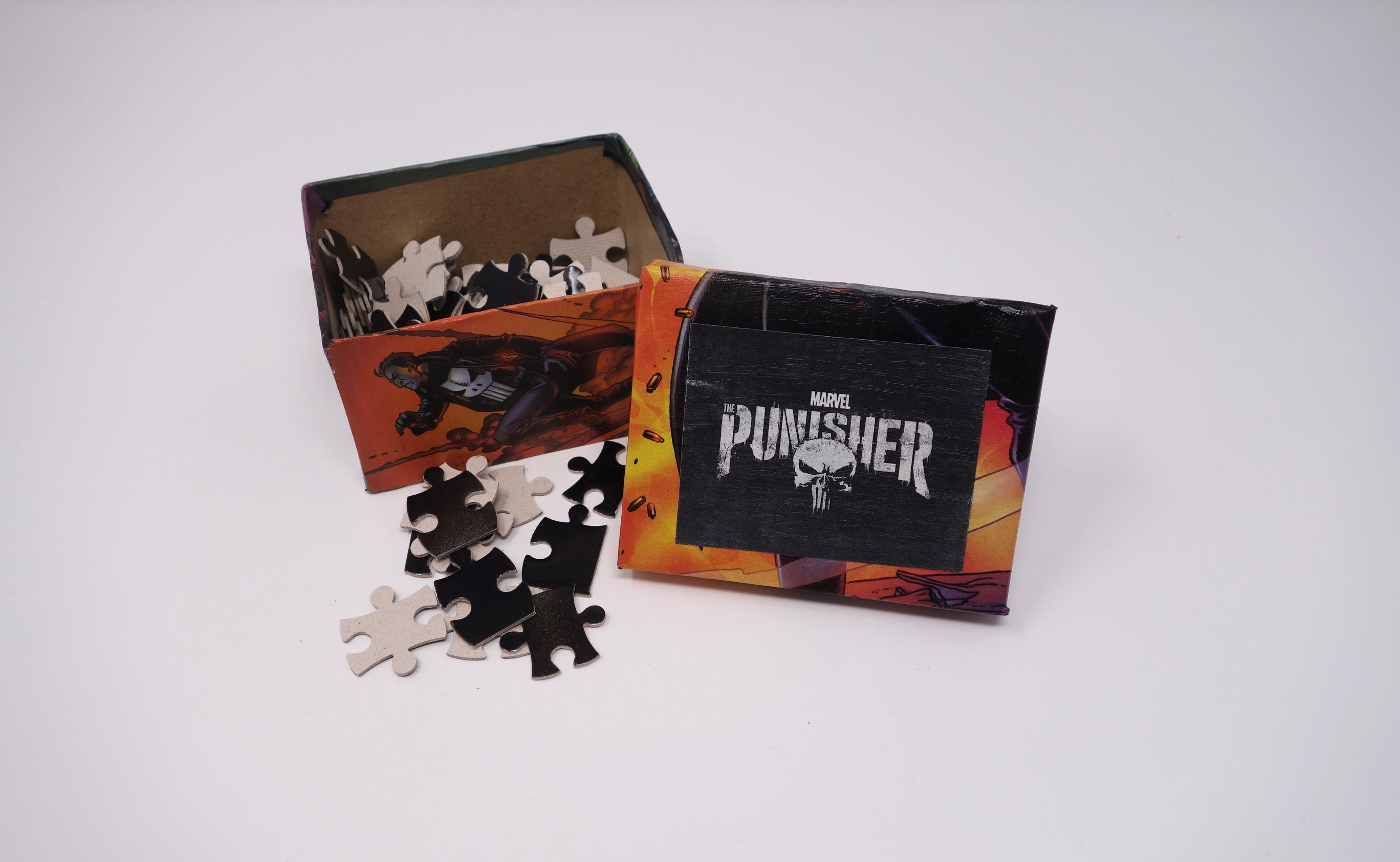DIY Punisher Jigsaw Puzzle Craft