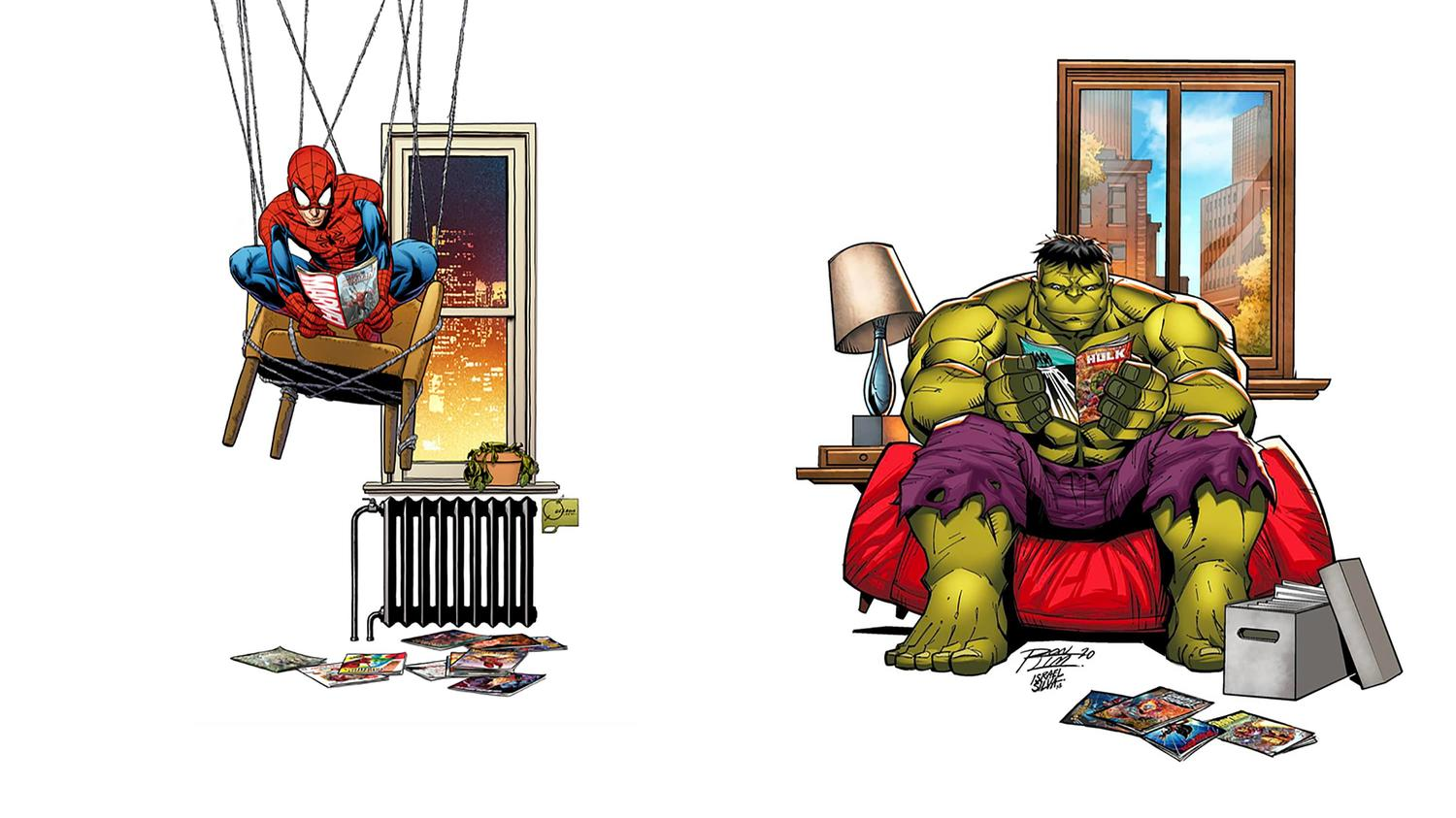 Marvel Comics At Home
