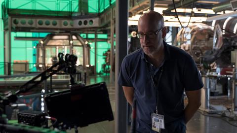 Peyton Reed on the set of Ant-Man and the Wasp
