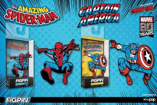 Spider-Man & Captain America FiGPiN Mini 2-pack