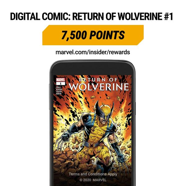Marvel Insider RETURN OF WOLVERINE (2018) #1 Digital Comic