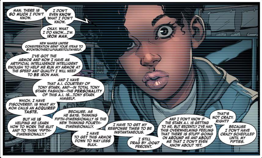 Riri Williams in Invincible Iron Man