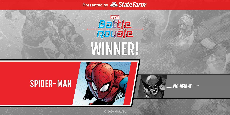 Marvel Battle Royale Round 2 Match 2 Spider-Man vs. Wolverine Spider-Man Wins