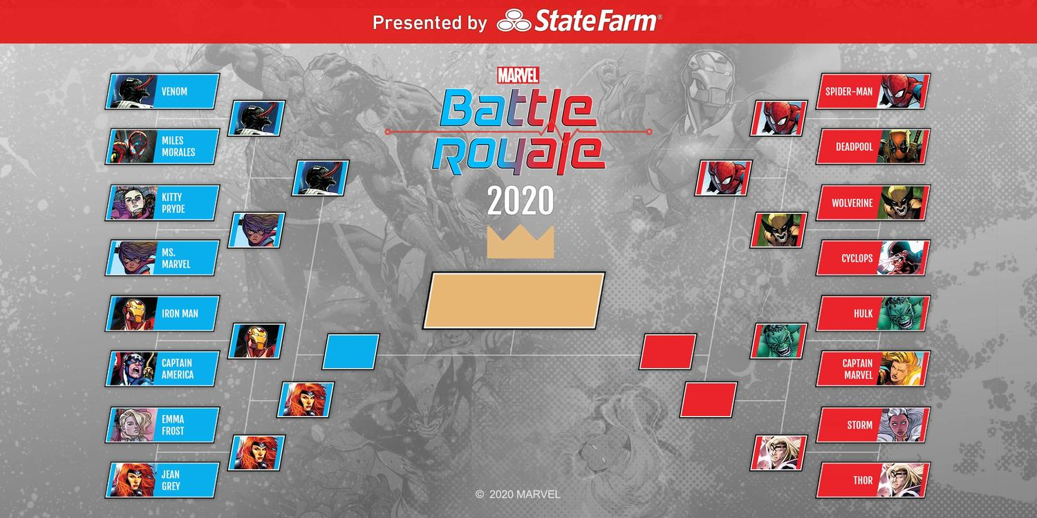 Marvel Battle Royale 2020 Round 2 Match 3 Tournament Standings Official Bracket