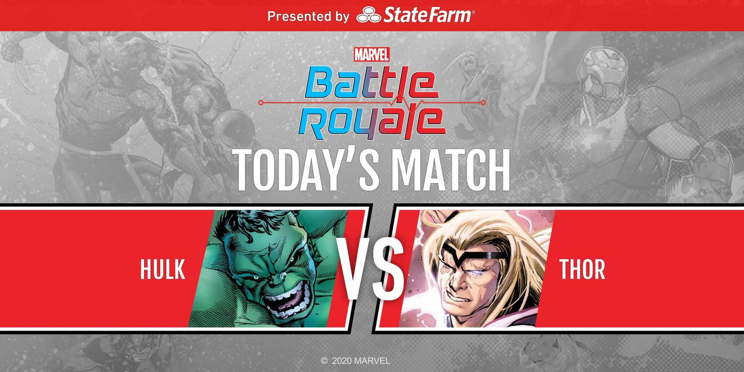 Marvel Battle Royale 2020 Round 2 Match 4 Hulk vs. Thor