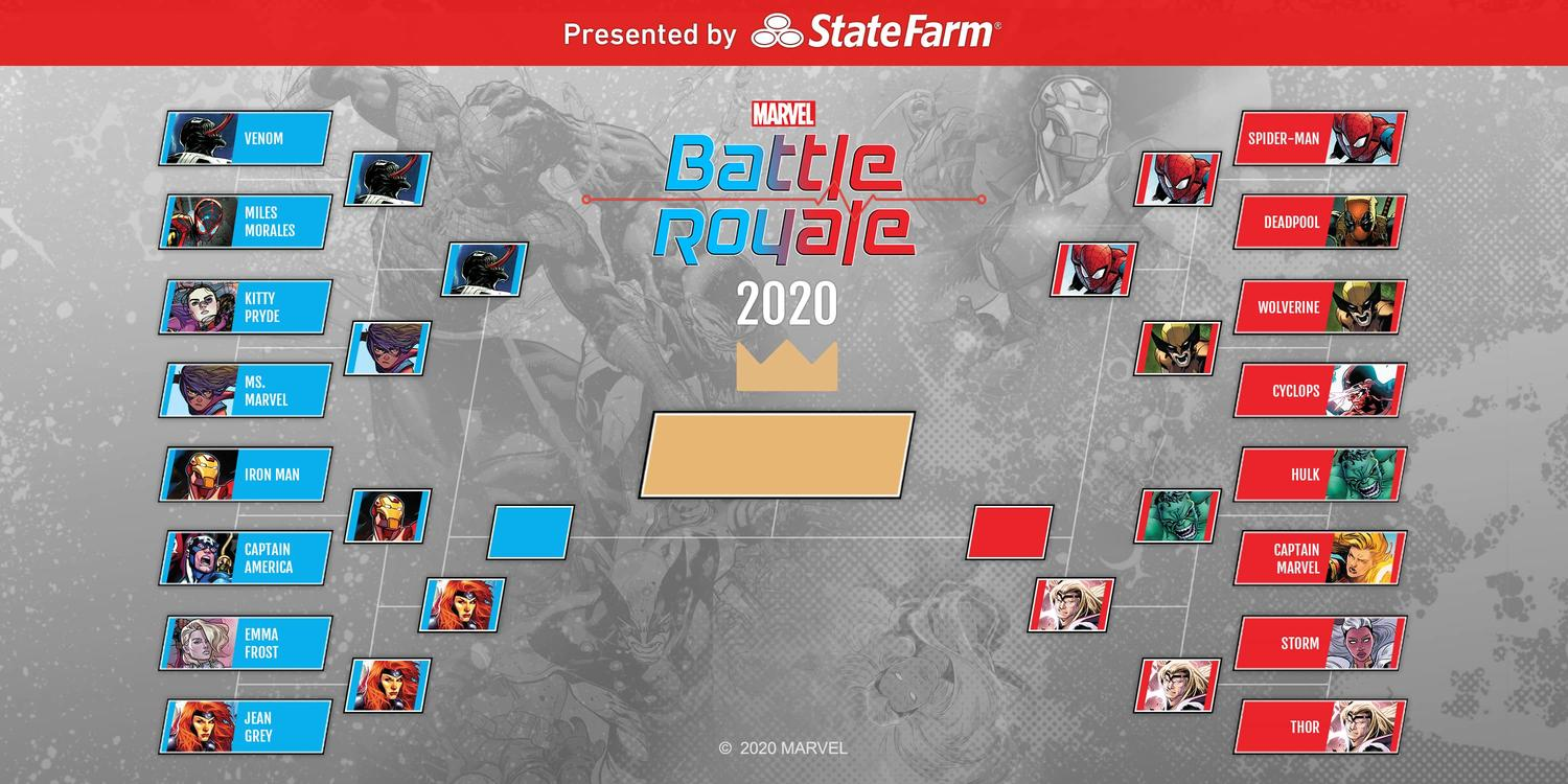 Marvel Battle Royale 2020 Round 3 Semifinals Tournament Standings Official Bracket