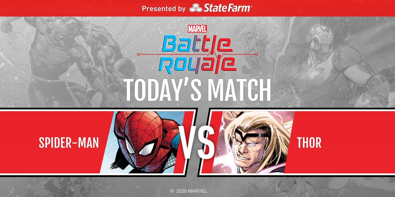 Marvel Battle Royale 2020 Round 3 Match 2 Spider-Man vs. Thor
