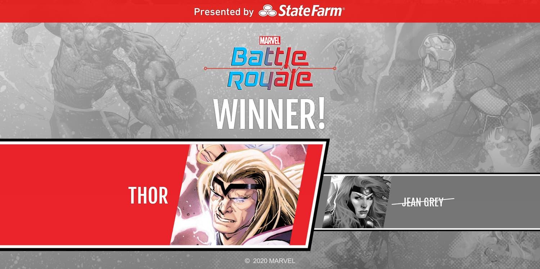 Marvel Battle Royale 2020 Winner Thor